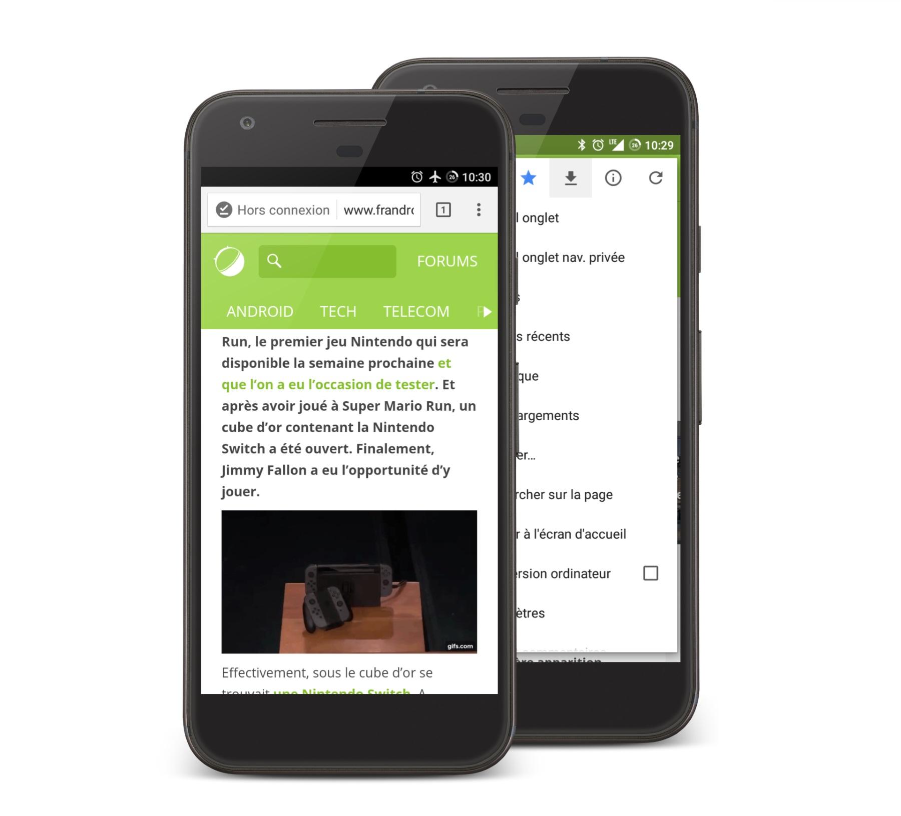 Chrome 55 sur Android apporte un mode hors-ligne et une gestion des téléchargements