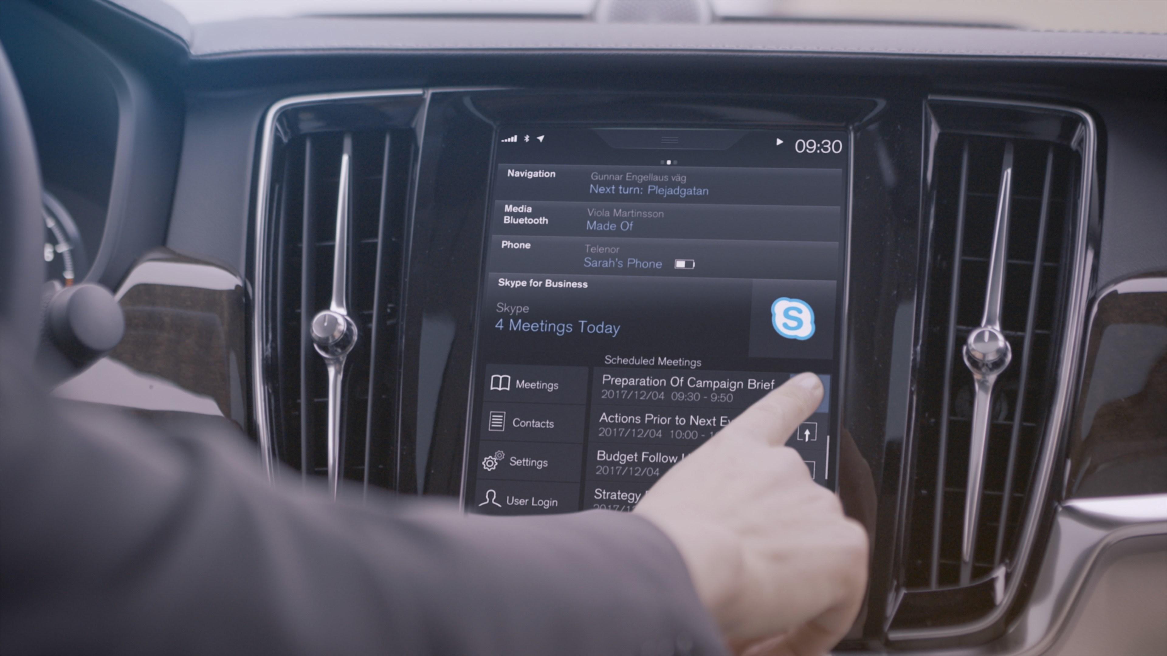 Volvo intègrera Skype Entreprise sur ses voitures haut de gamme