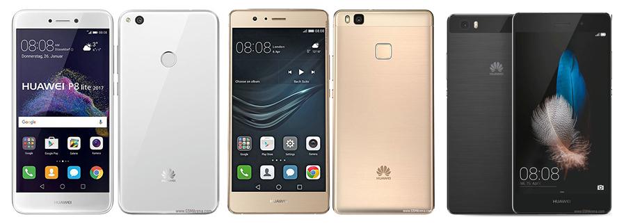 Comparatif : que vaut le Huawei P8 Lite 2017 face aux P8 Lite 2015 et P9 Lite ?