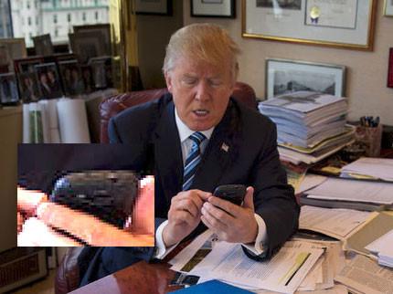 Donald Trump et son Samsung Galaxy S3 (non sécurisé)