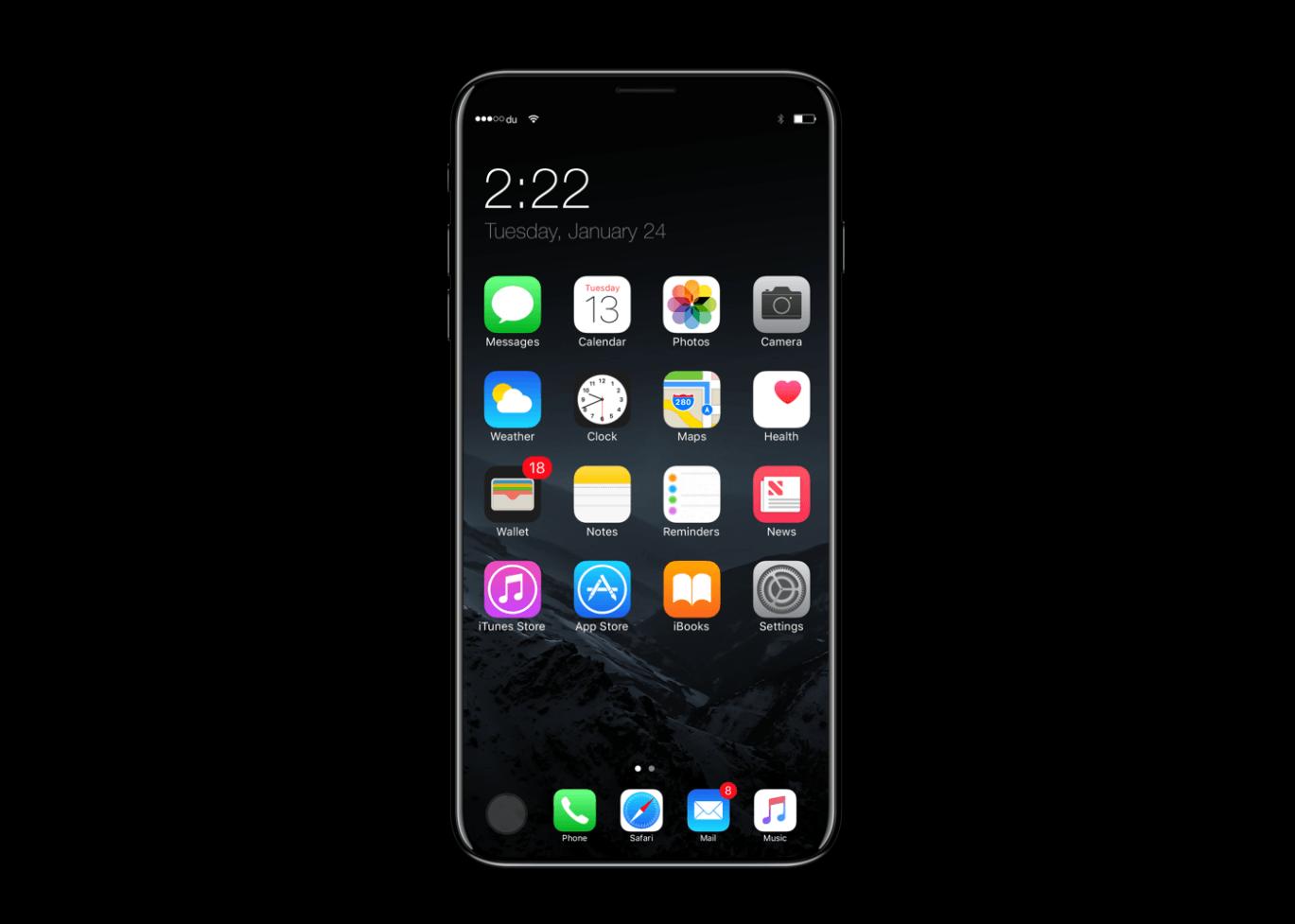 L'iPhone 8 d'Apple logerait un écran de 5,8″ dans la taille d'un iPhone 4,7″