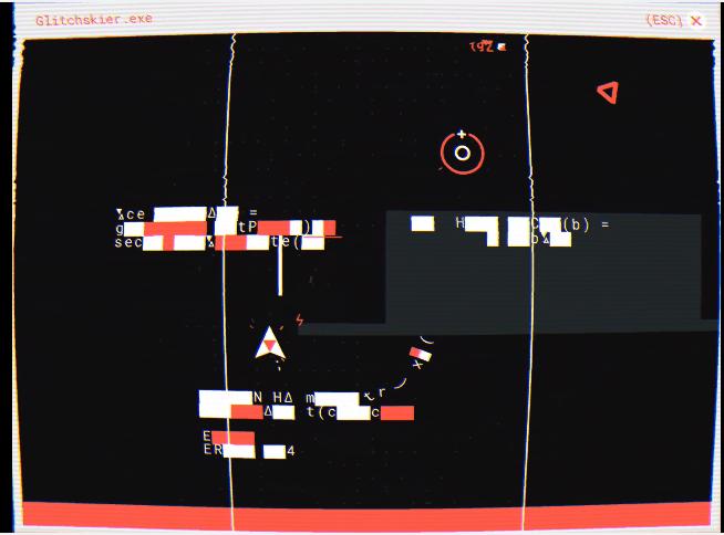 Devenez hacker avec le shoot them up Glitchskier sur le Play Store !