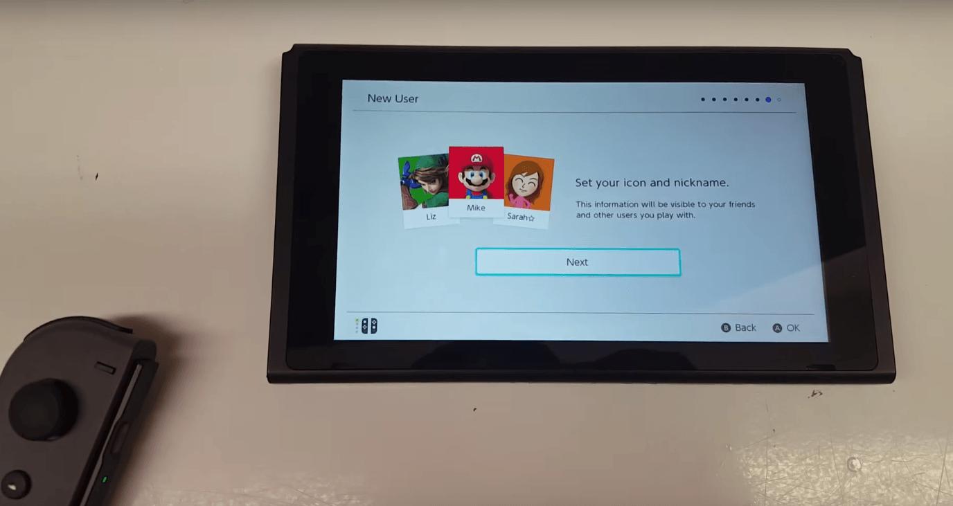 Nintendo Switch : l'interface dévoilée en vidéo par un joueur chanceux