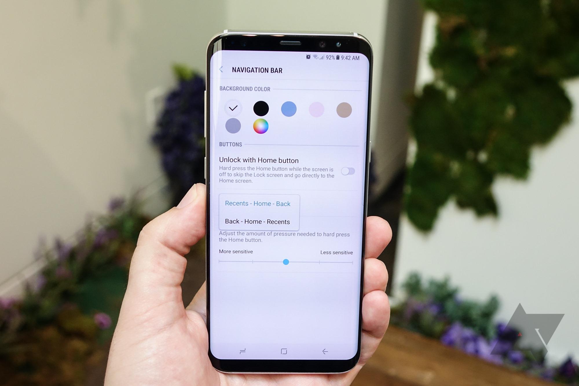 Samsung Galaxy S8 : bonne nouvelle, les touches de navigation sont ajustables