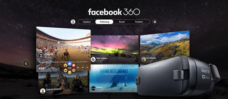 Facebook 360 : l'application pour visualiser vos contenus avec le Samsung Gear VR