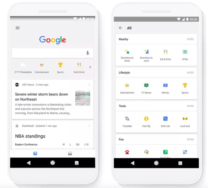 L'application Google facilite la recherche avec de nouveaux raccourcis et outils