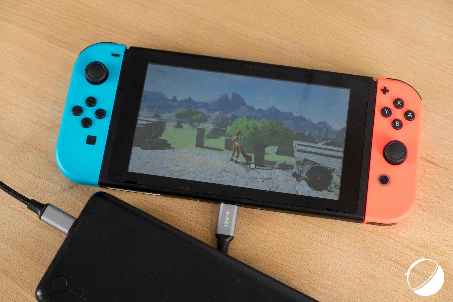 Nintendo Switch : la recharge sur batterie externe fonctionne