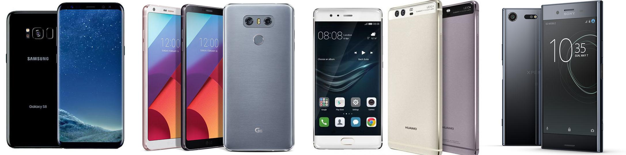 Samsung Galaxy S8 vs LG G6 vs Huawei P10 vs Sony Xperia XZ Premium : quel flagship 2017 choisir ?
