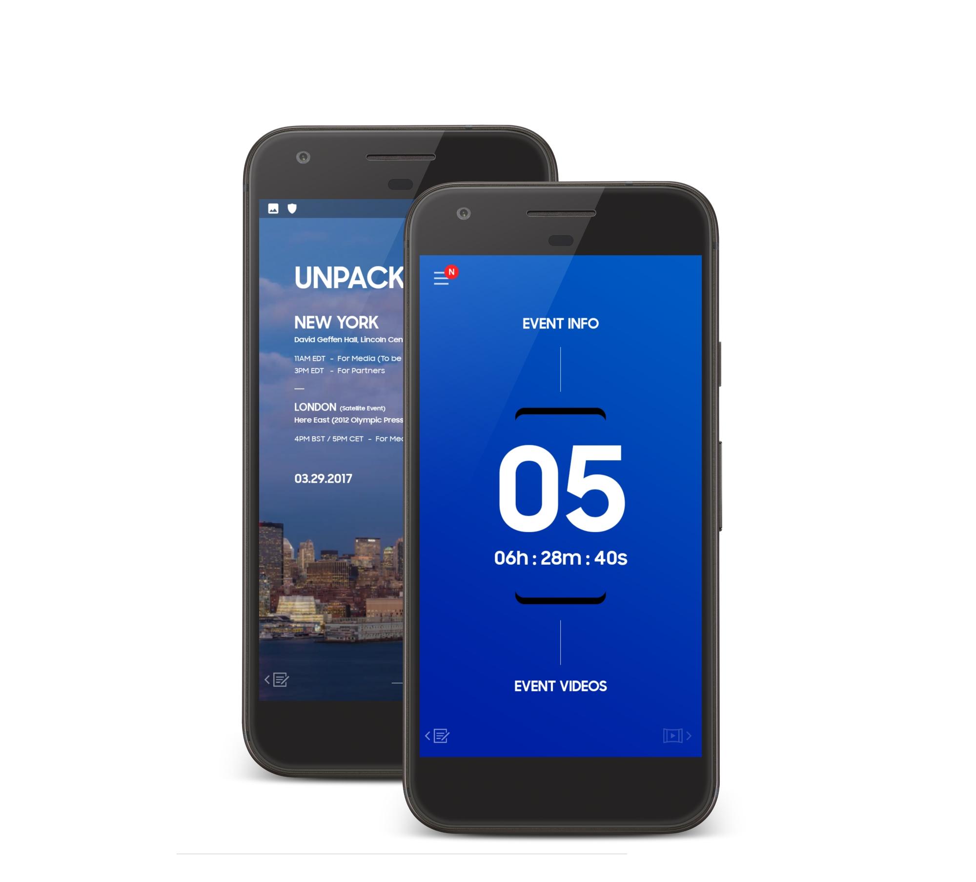 Unpacked 2017 : Téléchargez l'application de la conférence du Samsung Galaxy S8