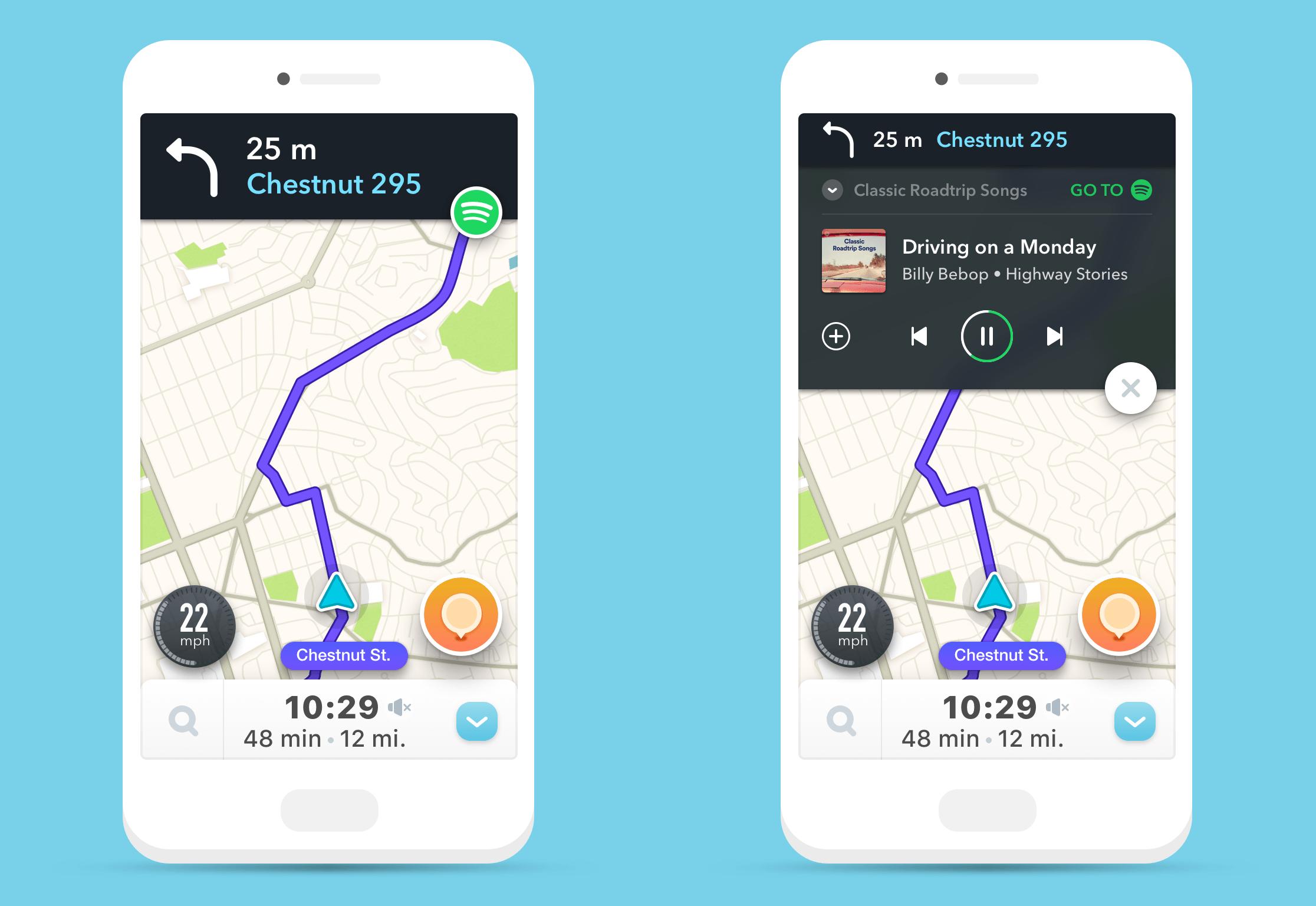 Conduisez sereinement : Waze et Spotify s'intègrent mutuellement
