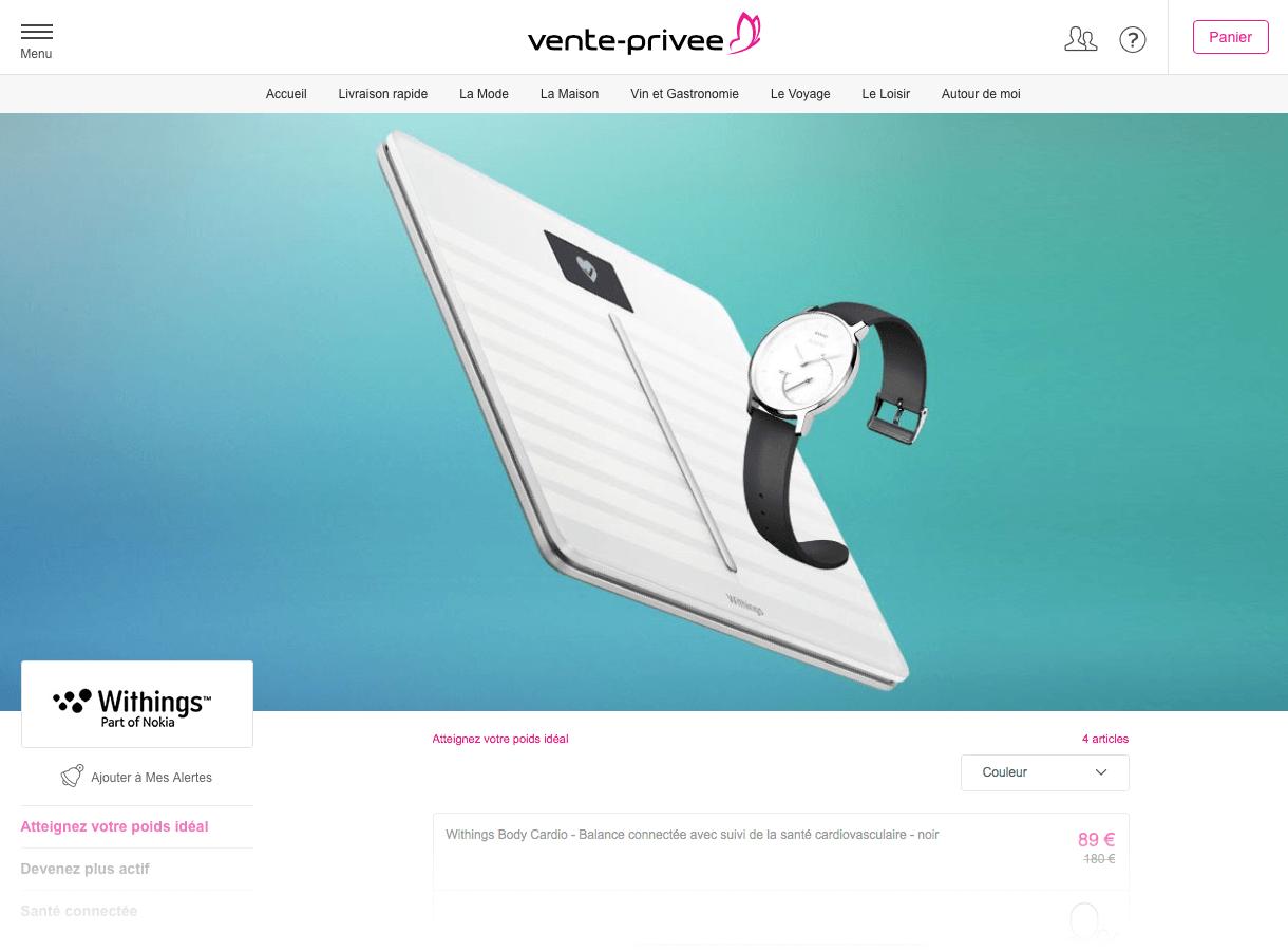 🔥 Bon plan : Withings brade ses objets connectés sur Vente-privee.com