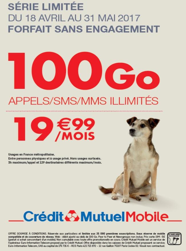NRJ Mobile et CM-CIC Mobile répondent enfin au forfait 100 Go de Free
