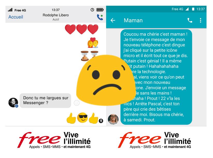 Pour Free Mobile et DDB, l'illimité 4G permettra d'envoyer davantage de SMS