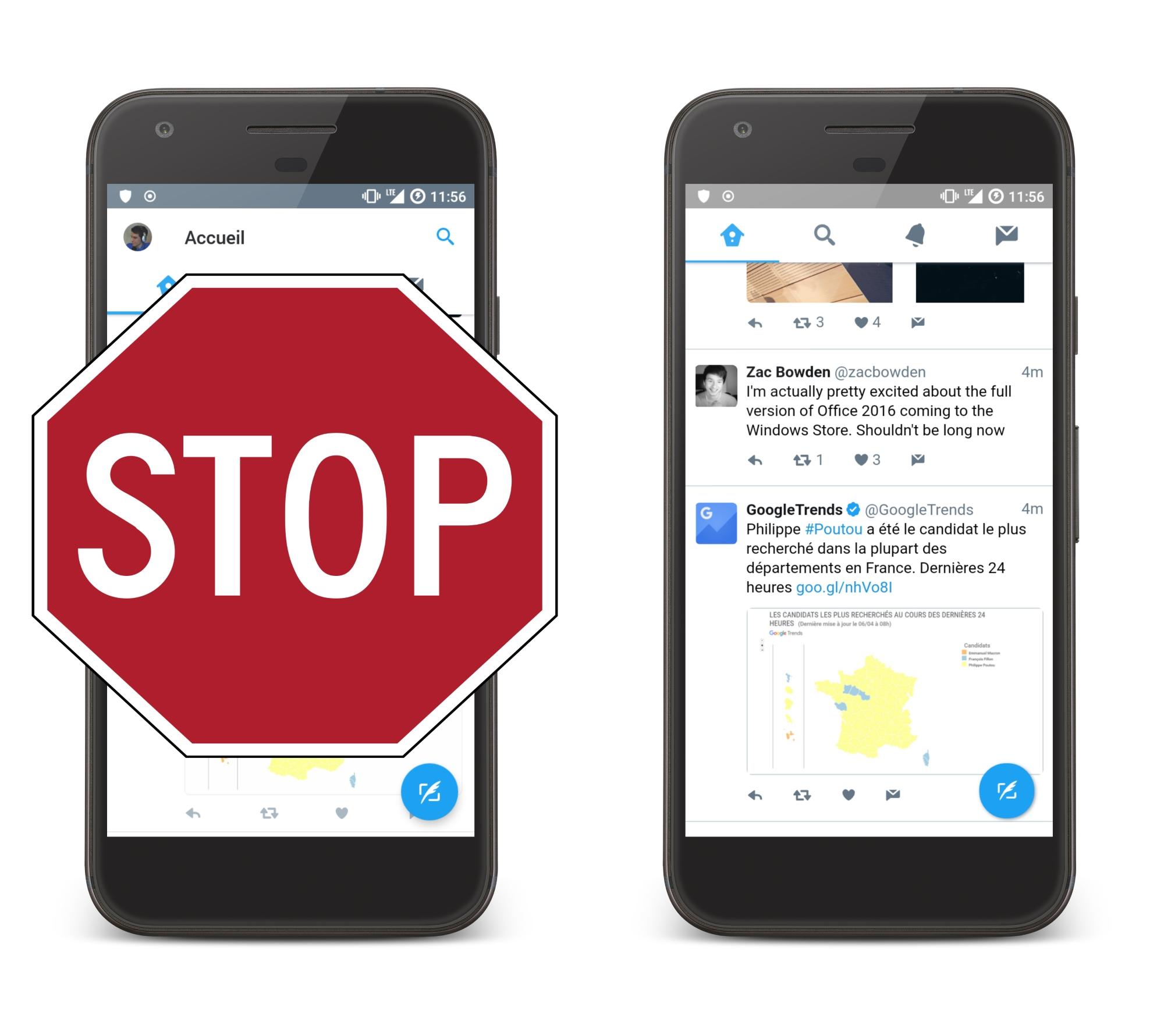 C'est le bon moment pour désinstaller Twitter sur Android