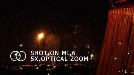 Xiaomi Mi 6 : une photo laisse entrevoir un zoom optique et un très bon capteur photo
