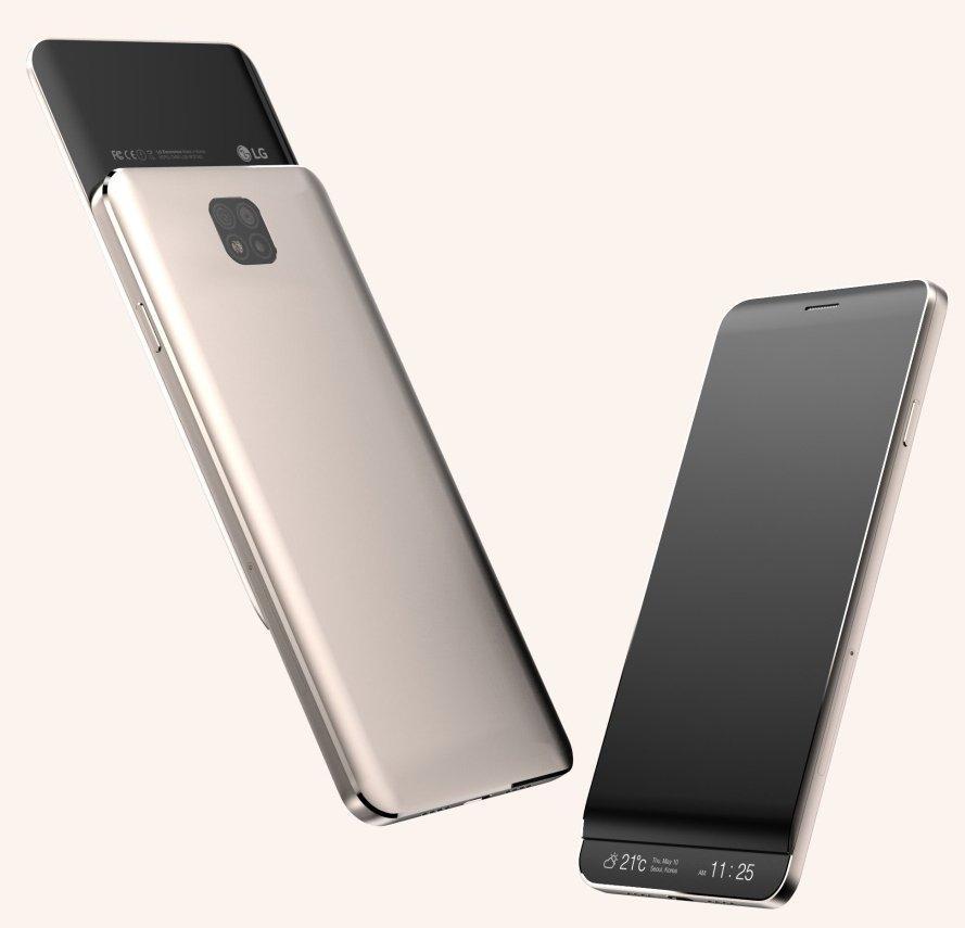 LG V30 : un concept étonnant à 2 écrans coulissants