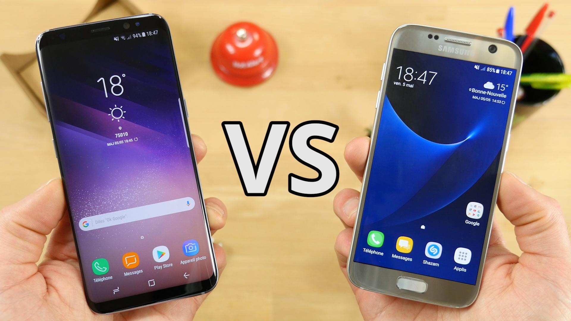 Vidéo : Samsung Galaxy S7 vs Galaxy S8, quelles différences ?