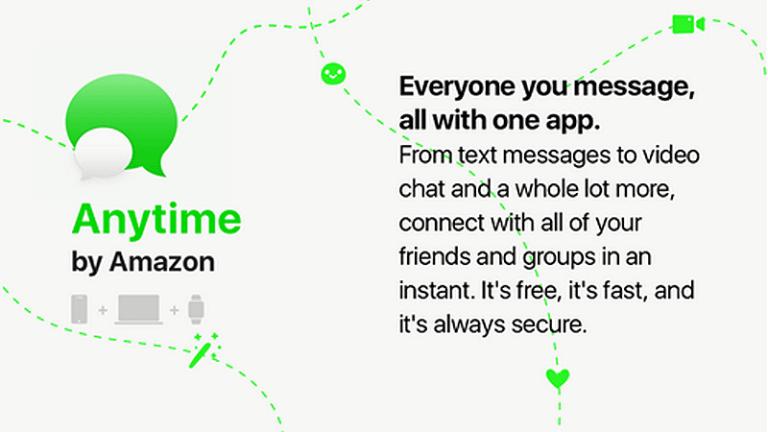 Anytime : Amazon prépare une messagerie rivale de WhatsApp et Snapchat