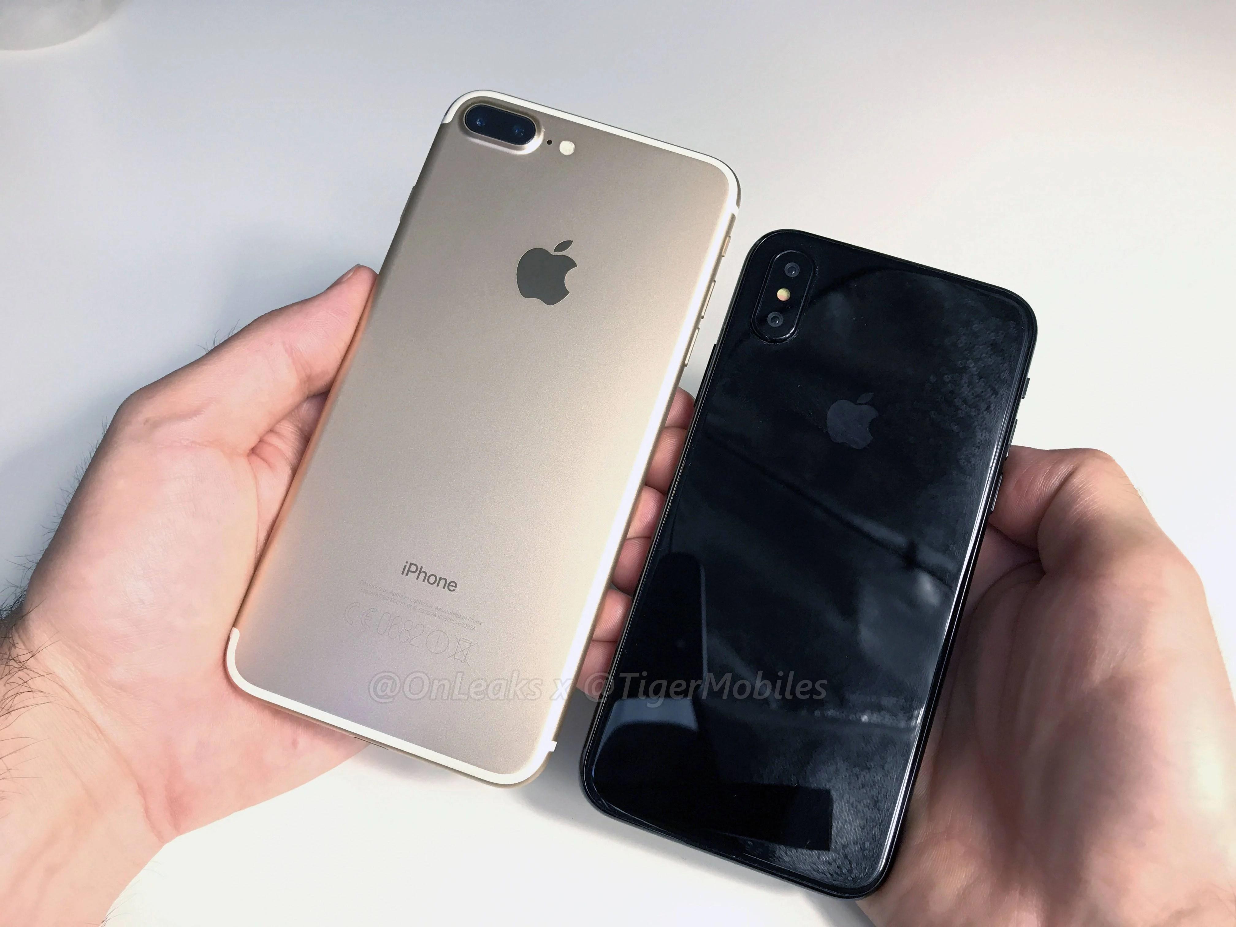 La prise en main de la maquette d'iPhone 8 continue : comparaison avec l'iPhone 7