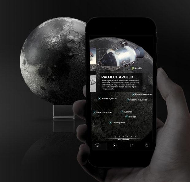 Cette application vous envoie sur la Lune avec la réalité augmentée et l'impression 3D