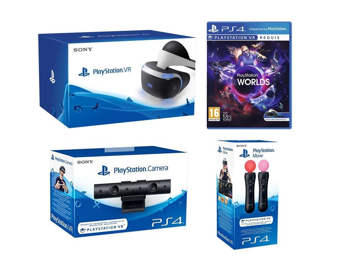 🔥 Prime Day : Pack PlayStation VR + Camera + Jeu PS4 VR Worlds + Paire PS Move à 449,99 euros au lieu de 538,55 euros sur Amazon