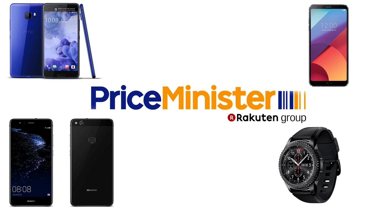 4 bons plans du jour chez PriceMinister : HTC U Ultra, Huawei P10 Lite, LG G6 et Samsung Gear S3