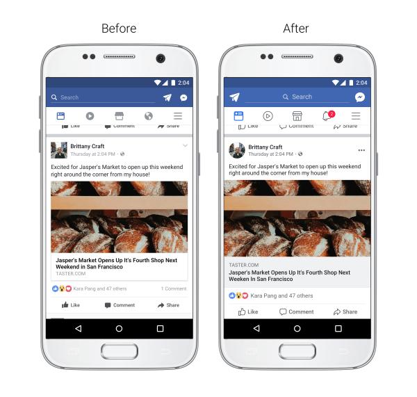 Facebook améliore la lisibilité de son application