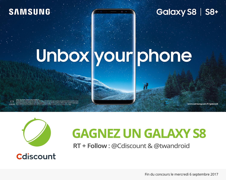 🔥 Concours : gagnez un Samsung Galaxy S8 avec Cdiscount et FrAndroid !
