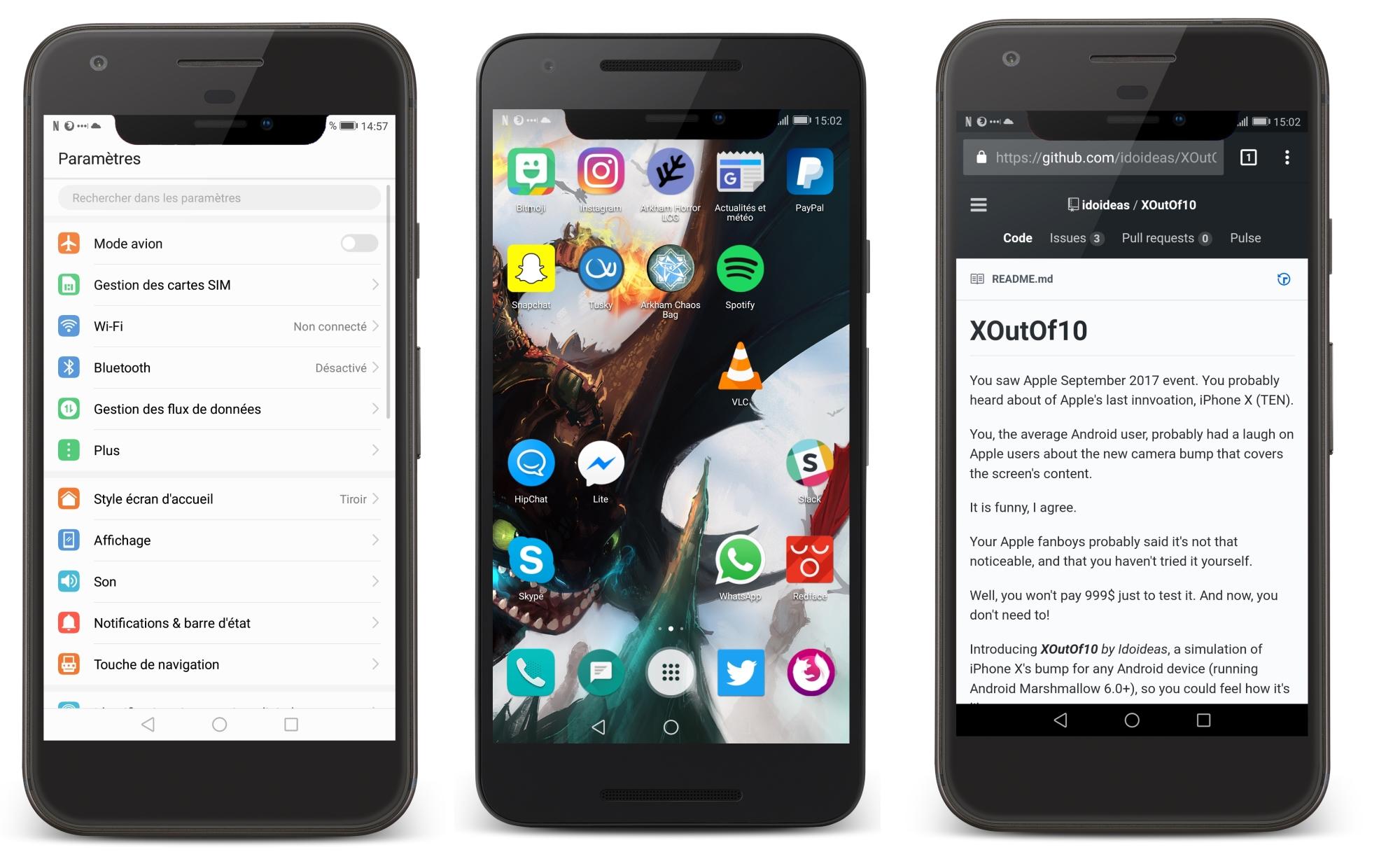 Cette application ridicule permet d'imiter l'écran de l'iPhone X sur Android