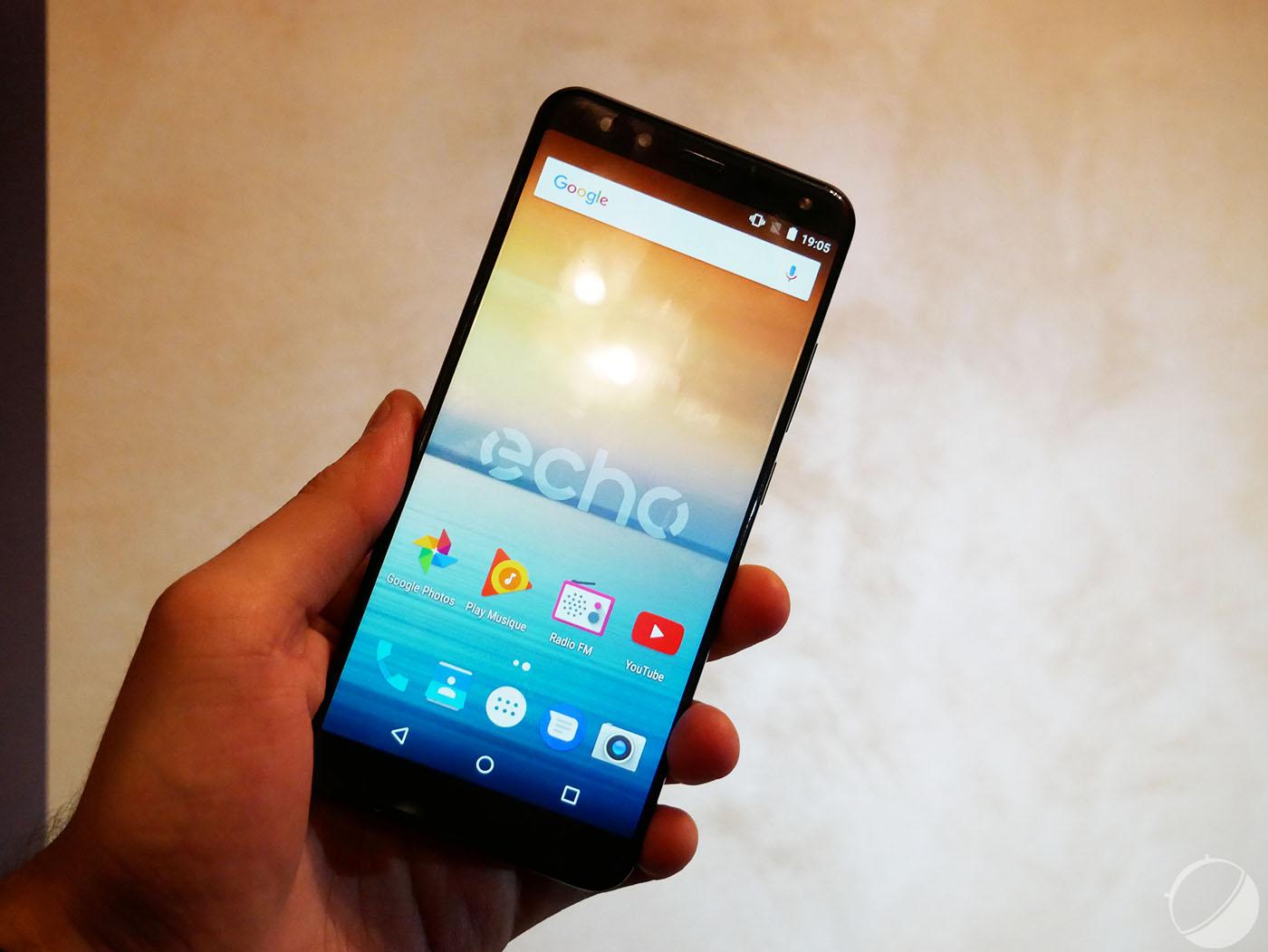 Prise en main de l'Echo Horizon, un smartphone «borderless» à tout petit prix