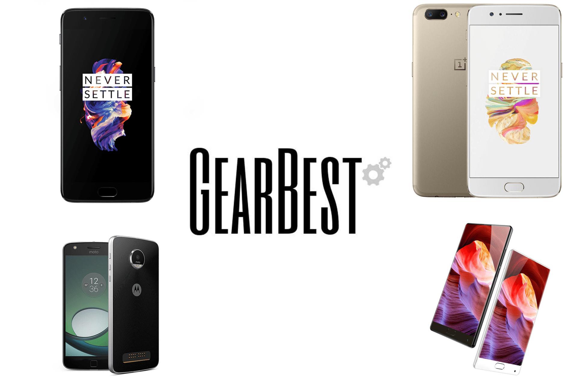 4 offres de la semaine sur GearBest : OnePlus 5 Slate Grey et Soft Gold, Lenovo Moto Z Play et Bluboo S1