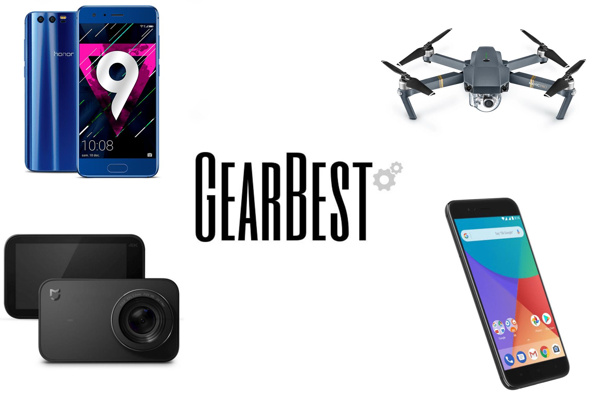 5 offres de la semaine sur GearBest : Honor 9, DJI Mavic Pro, Xiaomi Mi A1 et Mijia Cam