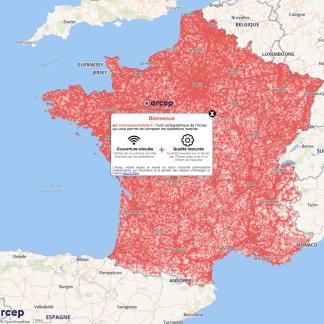Couverture mobile : comparez les opérateurs avec les nouvelles cartes de l'Arcep