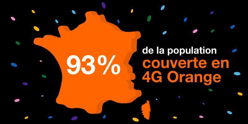 Orange actualise sa couverture de la population française en 4G (et reste premier)