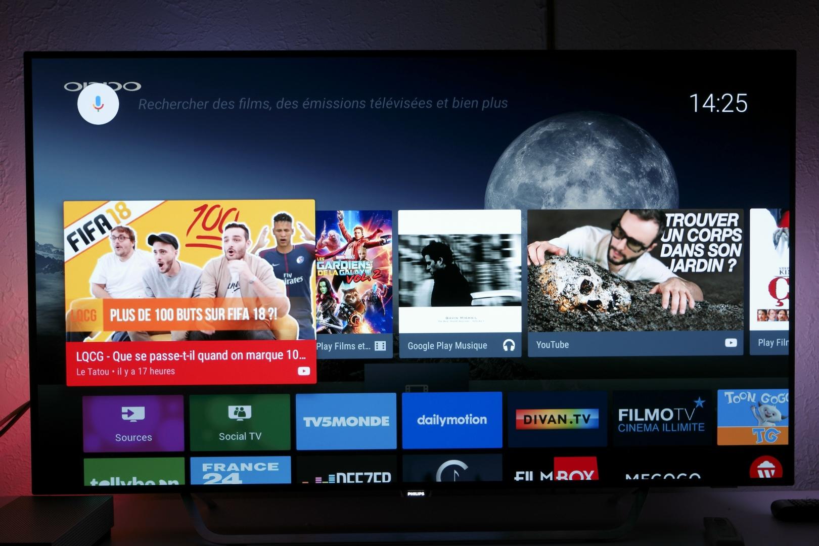 Google teste du contenu sponsorisé sur Android TV