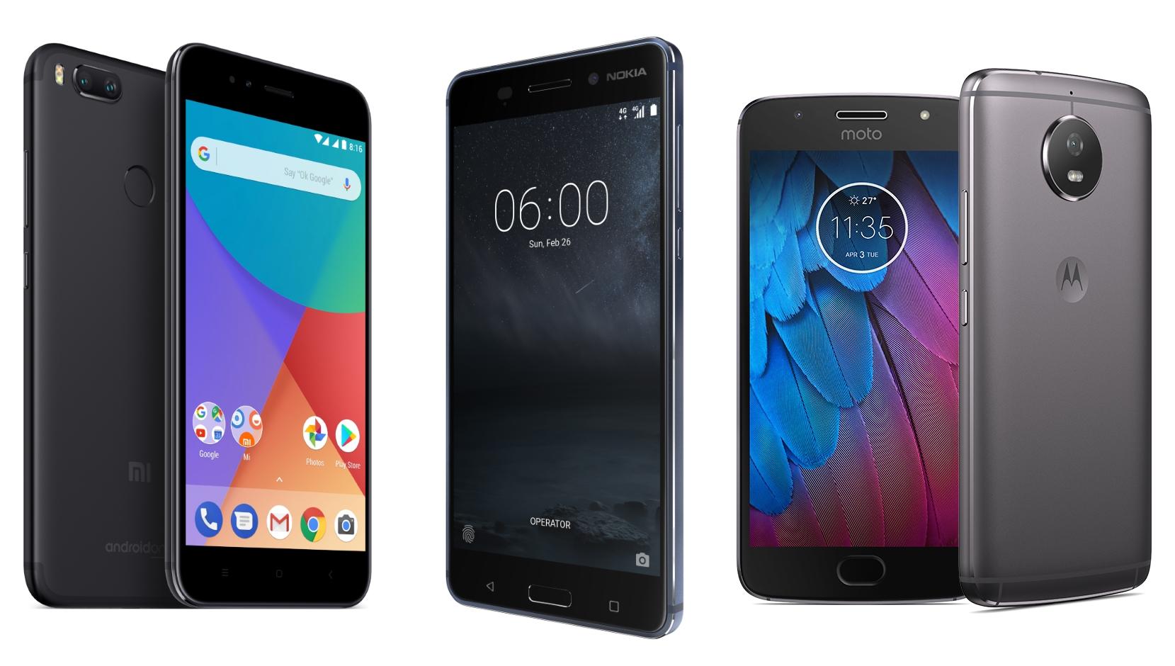 Xiaomi Mi 1A vs Nokia 6 vs Motorola Moto G5S : Android pur et à petit prix