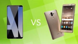 Comparatif : Huawei Mate 10 Pro vs Huawei Mate 9