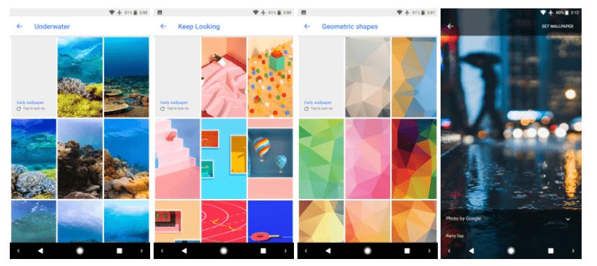 Google Fonds d'écran : encore plus de choix, un must-have sur Android