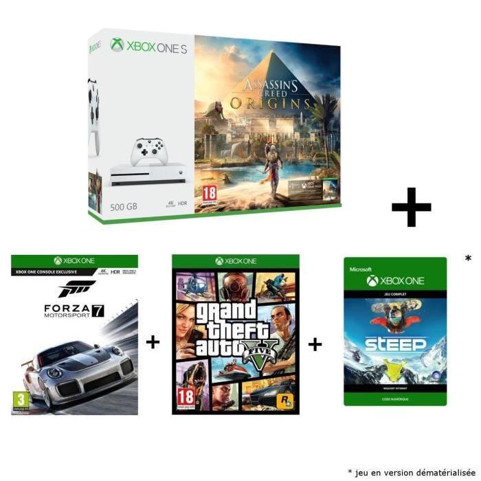 🔥 Black Friday : des packs Xbox One S à partir de 199 euros, avec 4 jeux, sur CDiscount