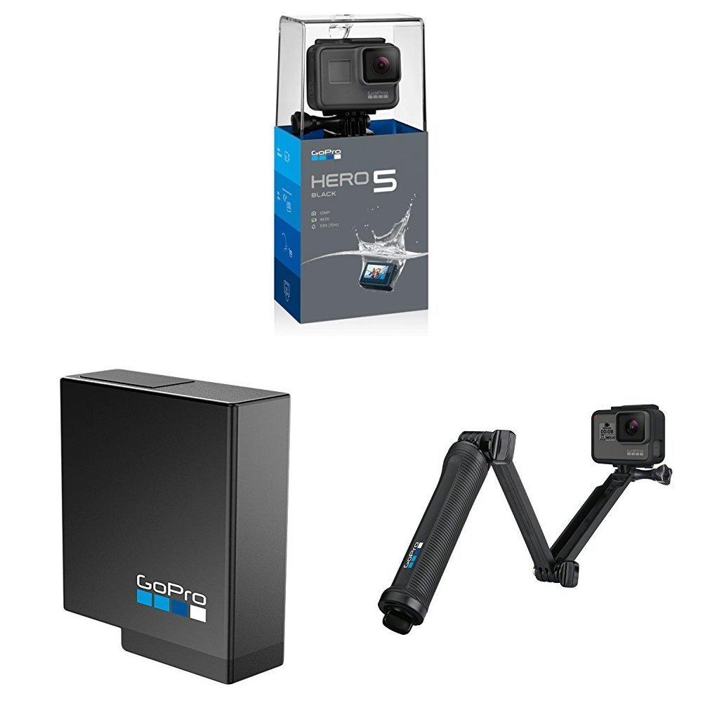 🔥 Bon plan : GoPro HERO5 Black + Batterie rechargeable GoPro HERO5 + GoPro 3-Way à 369 euros