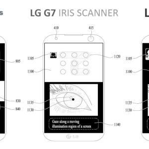 LG G7 : un brevet laisse entrevoir un scanner d'iris ingénieux