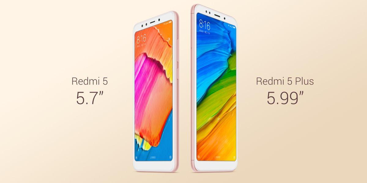 Xiaomi Redmi 5 et 5 Plus officialisés : écrans 18:9 et design léché à partir de 100 euros