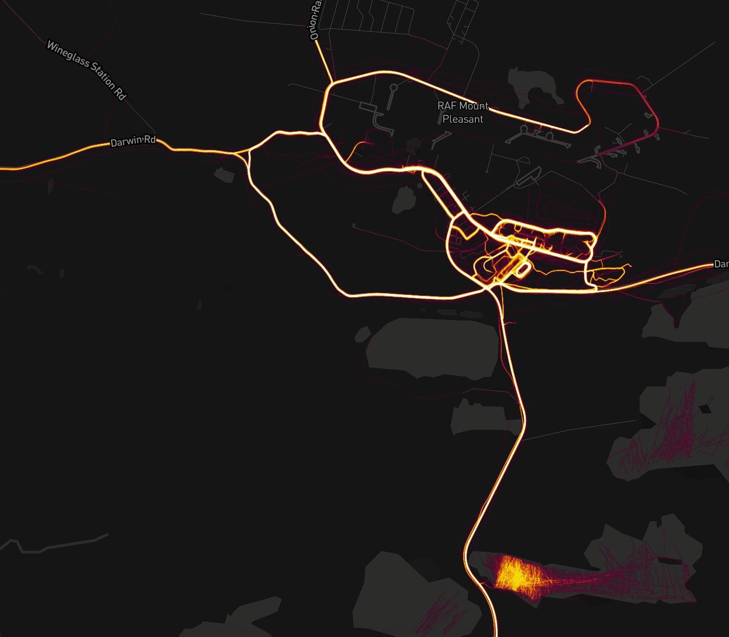 L'application fitness Strava révèle les positions de bases militaires secrètes