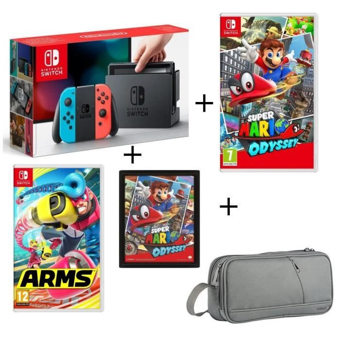 🔥 Bon plan : un pack Nintendo Switch avec Super Mario Odyssey et ARMS (+ goodies) pour 389 euros
