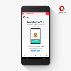Opera Mobile et Mini : les scripts malveillants de minage de cryptomonnaie désormais bloqués