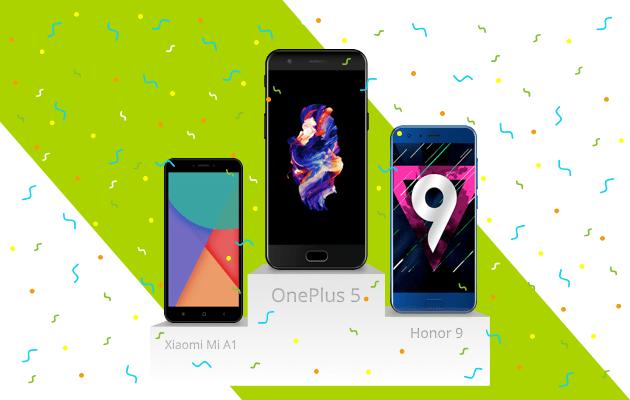 Voici le Top 3 des marques et smartphones par tranche de prix en France en 2017 (hors opérateurs)