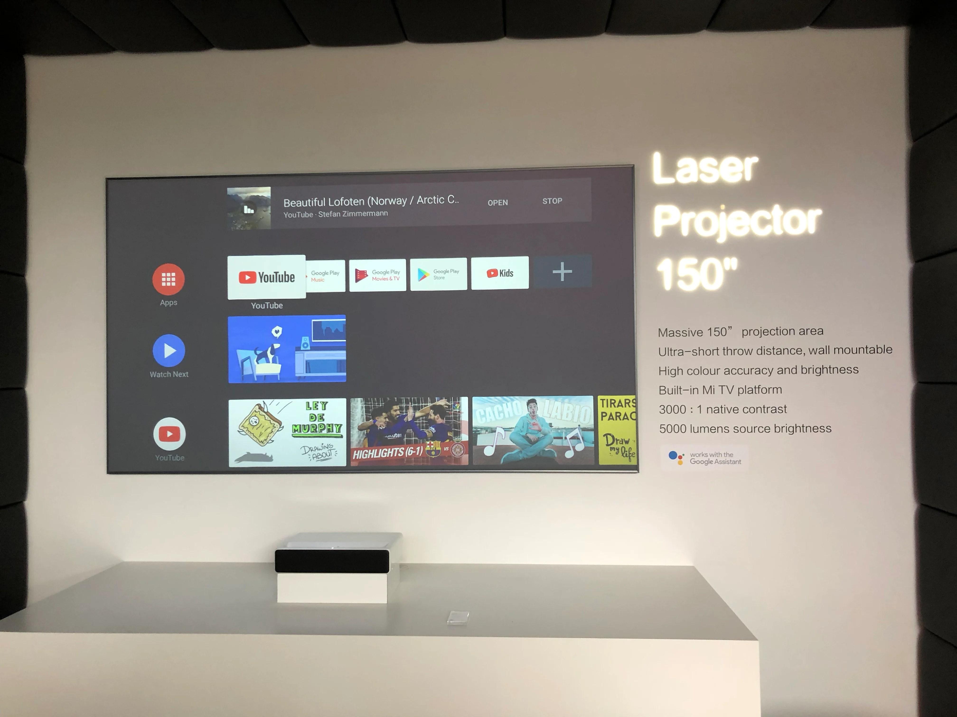 Xiaomi Mi Laser Projector : il va être commercialisé en Europe avec Android TV