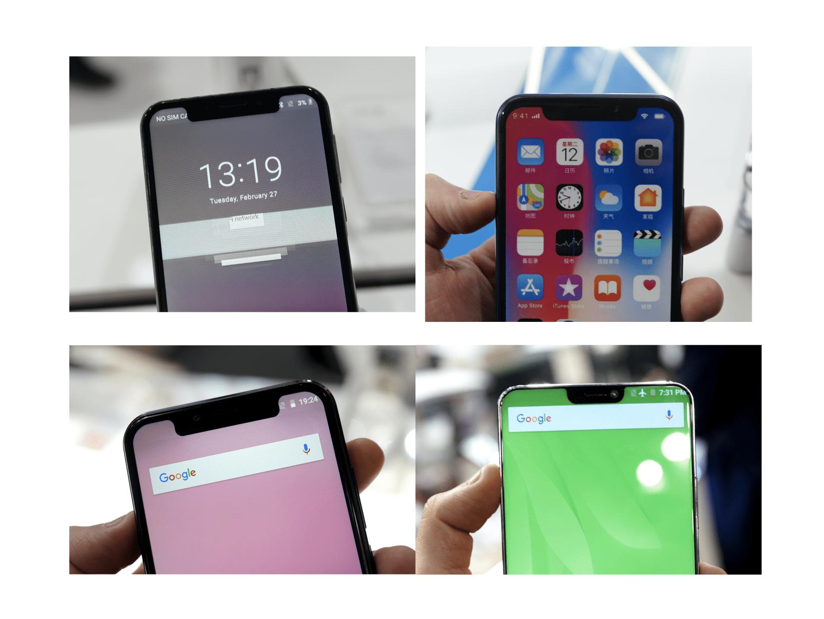L'iPhone X inspire le meilleur et le pire sous Android : notre sélection – MWC 2018