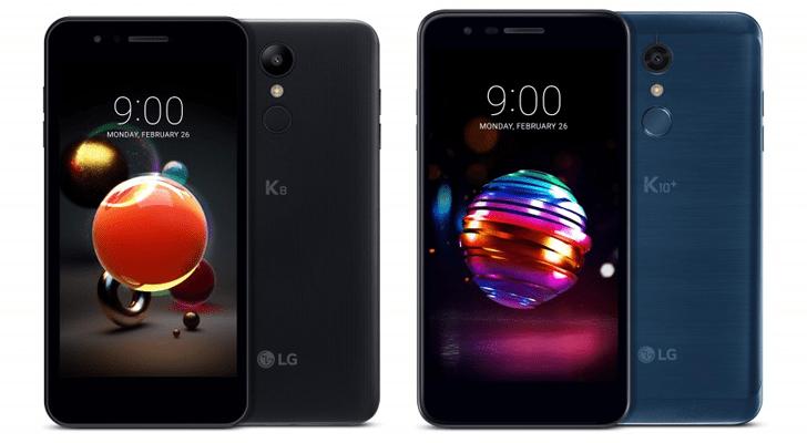 LG K8 et K10 2018 officialisés : une refonte timide de l'entrée de gamme
