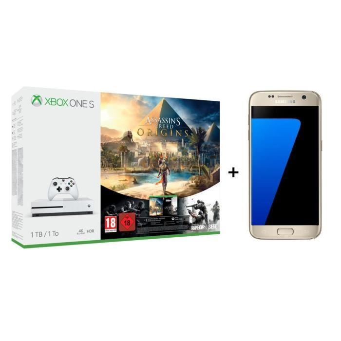 🔥 Bon plan : le pack Xbox One S + Galaxy S7 + Assassin's Creed Origins est à 429 euros